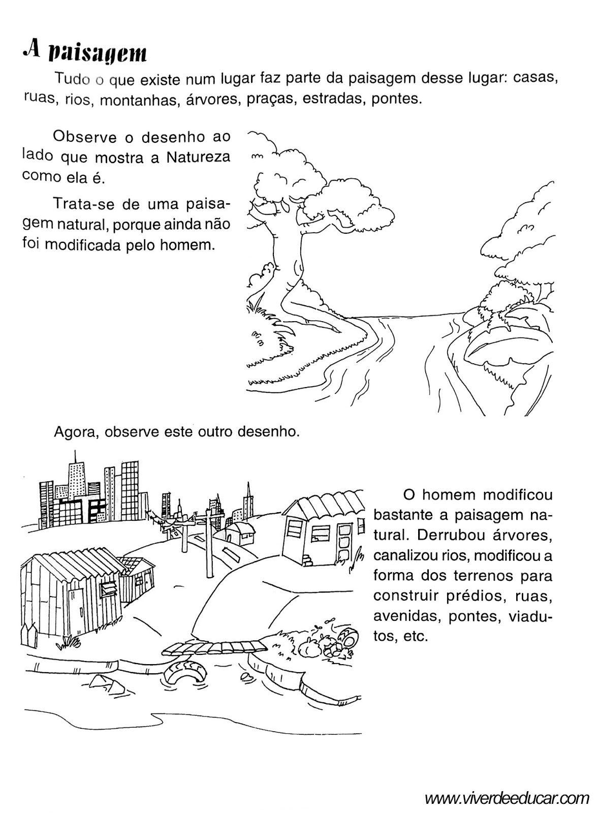 Atividades Sobre Os Tipos De Paisagens Atividades De Geografia
