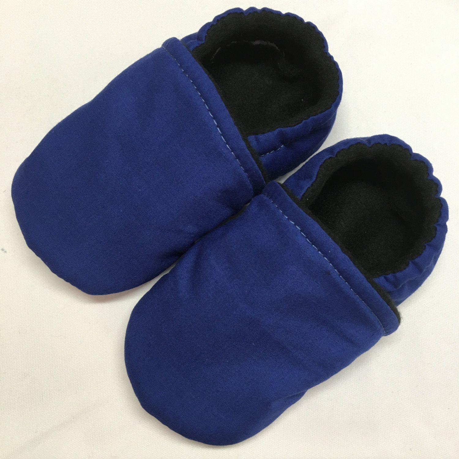 Extra Wide Navy Blue Soft Baby Walking Shoes For Chubby Feet Baby