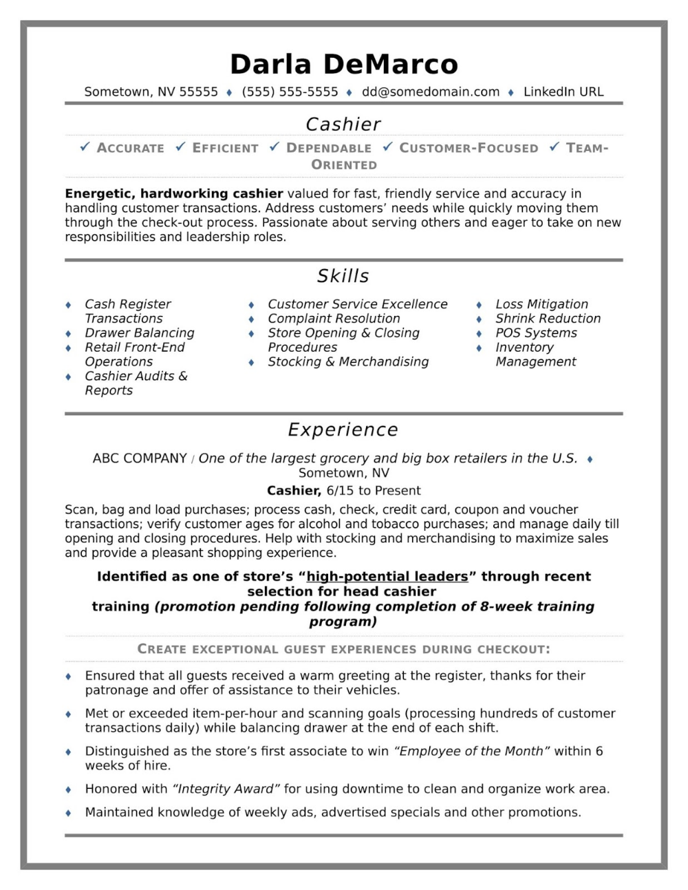 Grocery Store Cashier Resume Grocery Store Cashier Resume Description Grocery Store Cashier Resume Objectiv Job Resume Examples Resume Skills Resume Examples