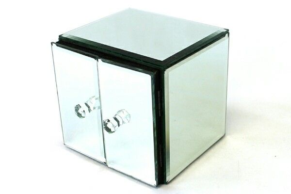 This is a cube shaped Allure by Jay jewelry box This jewelry box