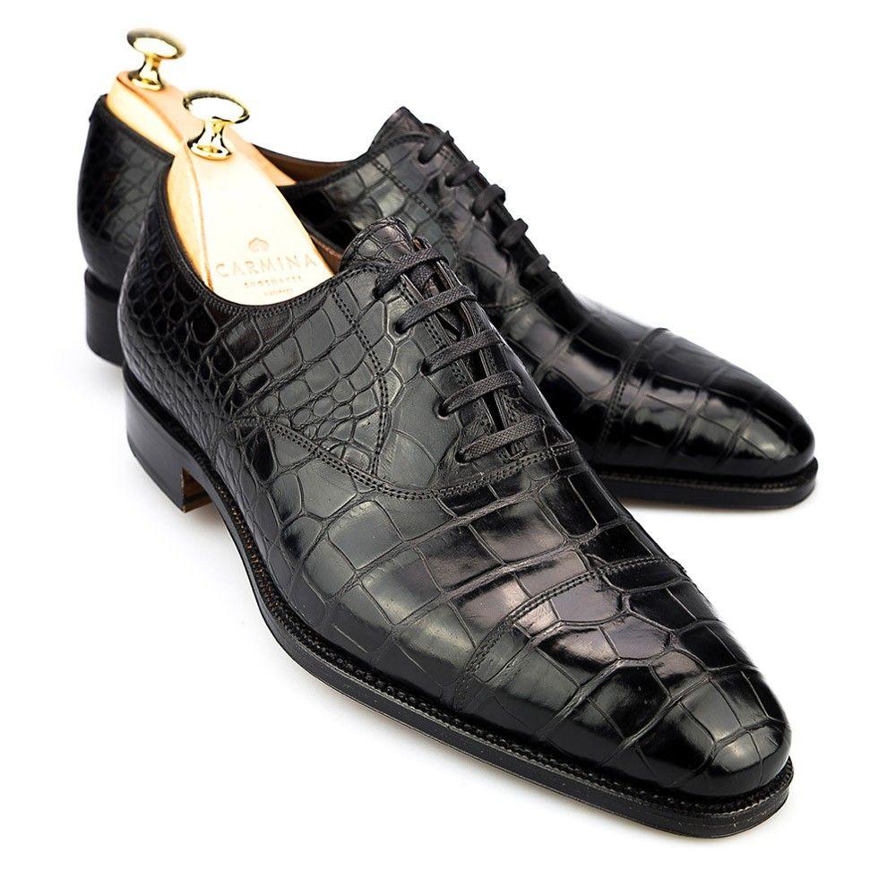 Slick Exotica Saddle Genuine Hornback Crocodile Dress Oxford Shoes Mens 15