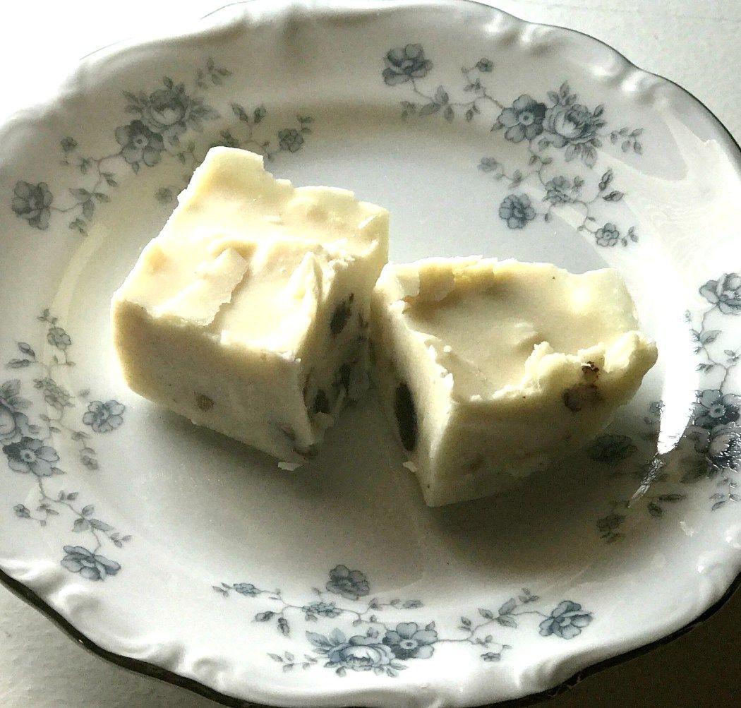 Decadent Dairy Free White Chocolate Fudge Dairy free