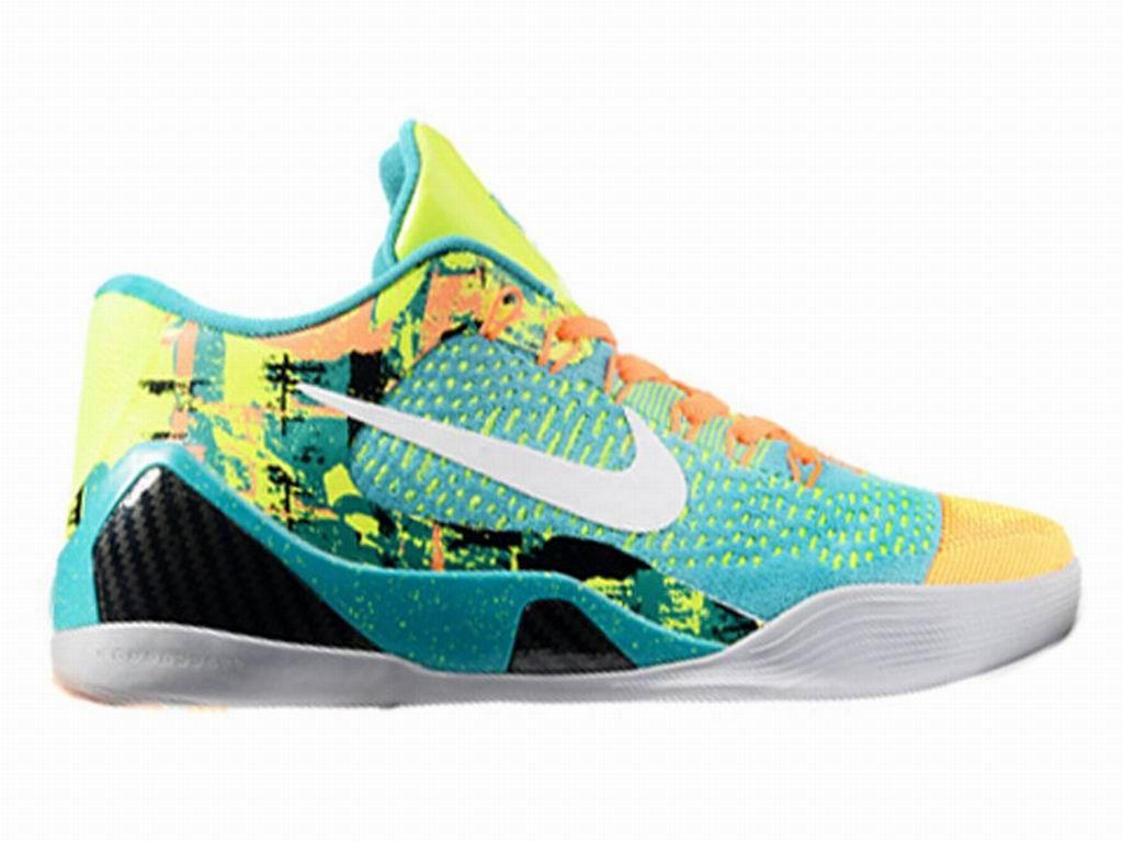 a87af790e003 Boutique Nike Kobe 9 IX Elite Low iD - Chaussures Nike Baskets Pas Cher  Pour Homme Noir Vert