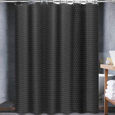 Avalon 70 X 84 Shower Curtain In Black Bathtubs Showers Mercury