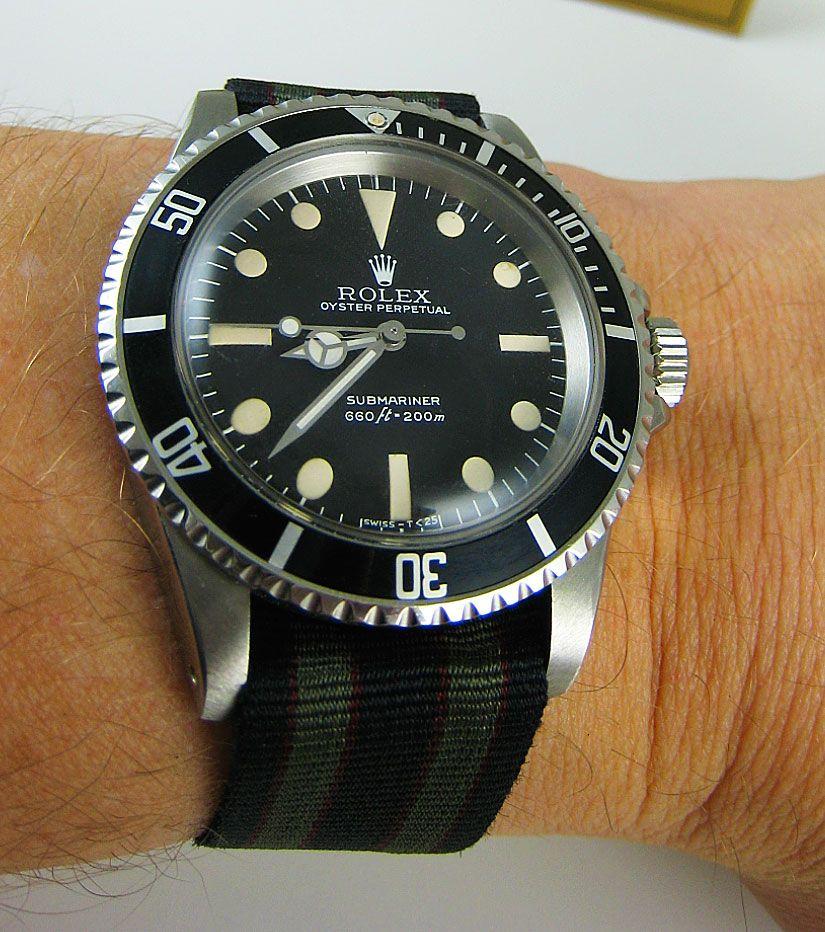 Rolex Submariner on Bond NATO. Rolex, Rolex watches