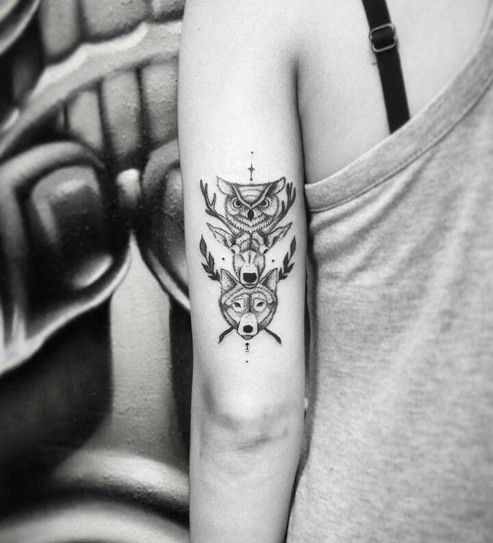Animal Totem Tattoo Blackwork Tribal Tats Animal