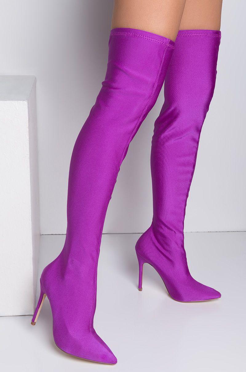 Neon Purple High Heels