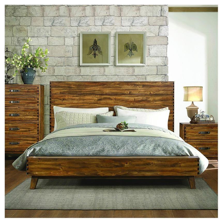 Best Gally Queen Panel Bed Platform Bed Rustic Living Room 400 x 300