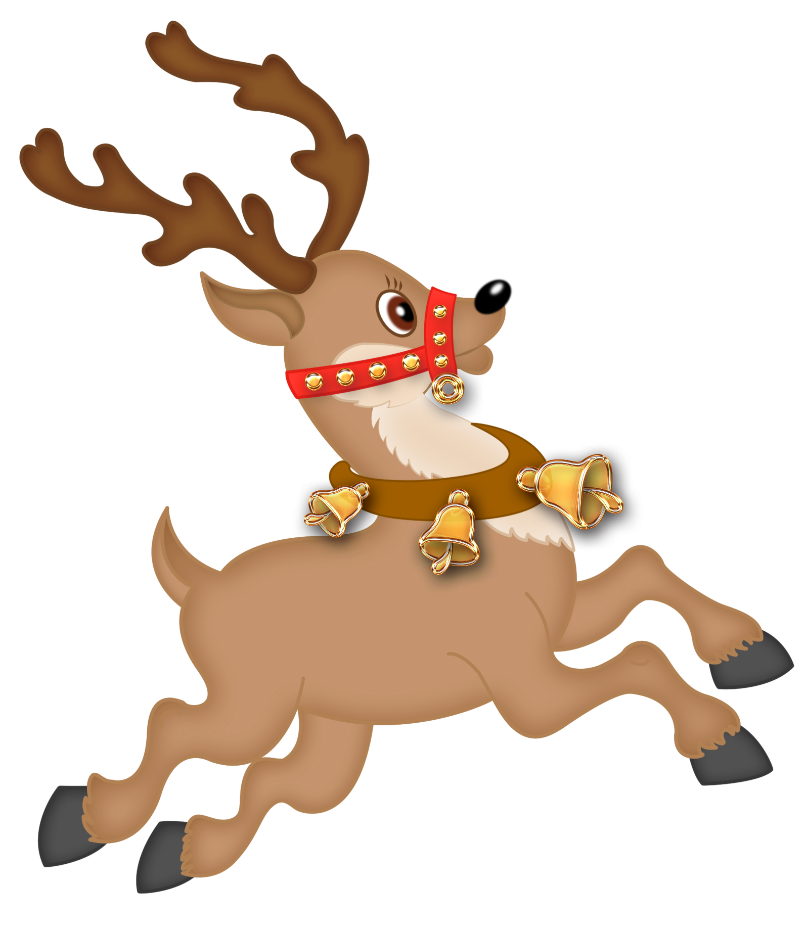 Cute Reindeer PNG Clipart | Christmas clipart, Christmas ...
