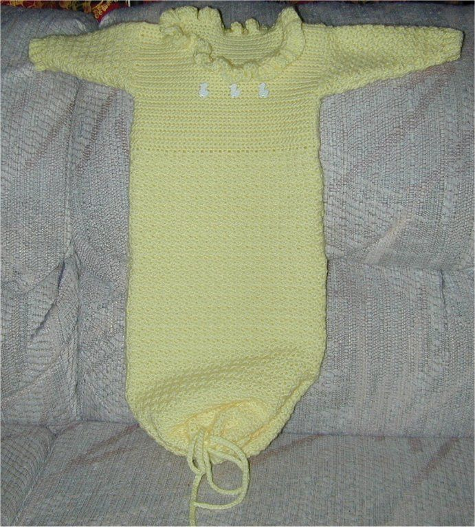 Baby sleep gown crochet for newborn free pattern from extrastellar ...