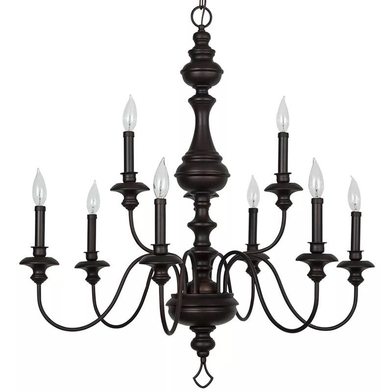 View The Park Harbor Phhl6319 Cardiff 32 Wide 9 Light 2 Tier Shaded Style Chandelier