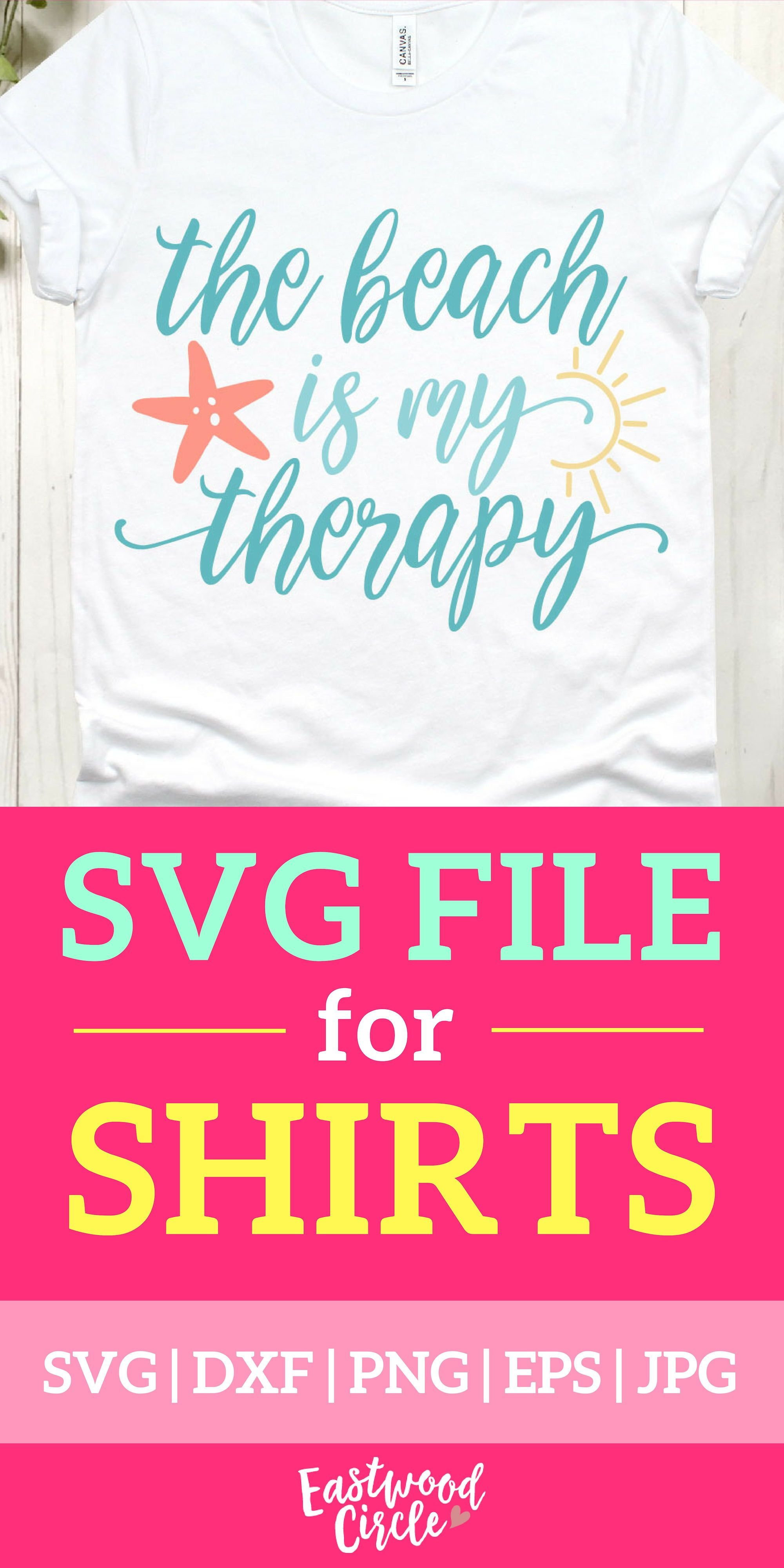 The Beach Is My Therapy svg, Beach svg, Beach svg Files for