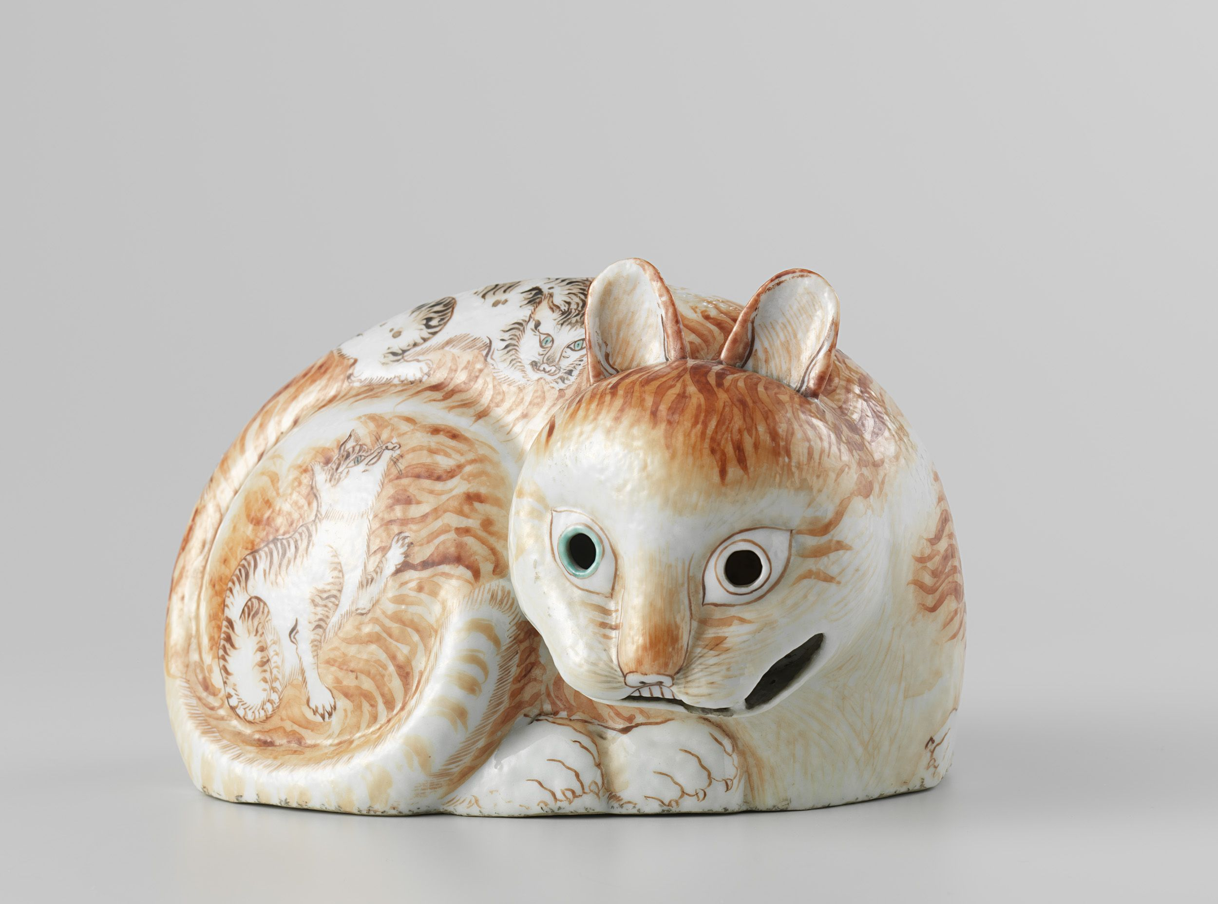 Nightlight in the form of a cat | c.1760-c.1770 |  Rijksmuseum | Public Domain