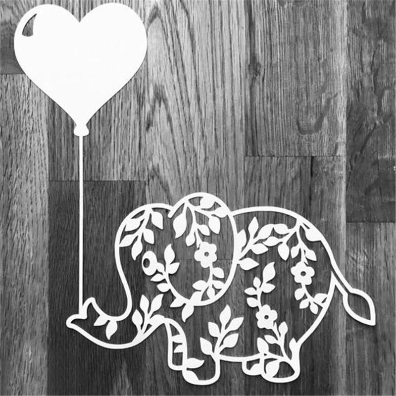 Elephant Animal Metal Cutting Scrapbooking Die Cut Stitch Dies Troqueles Stencil
