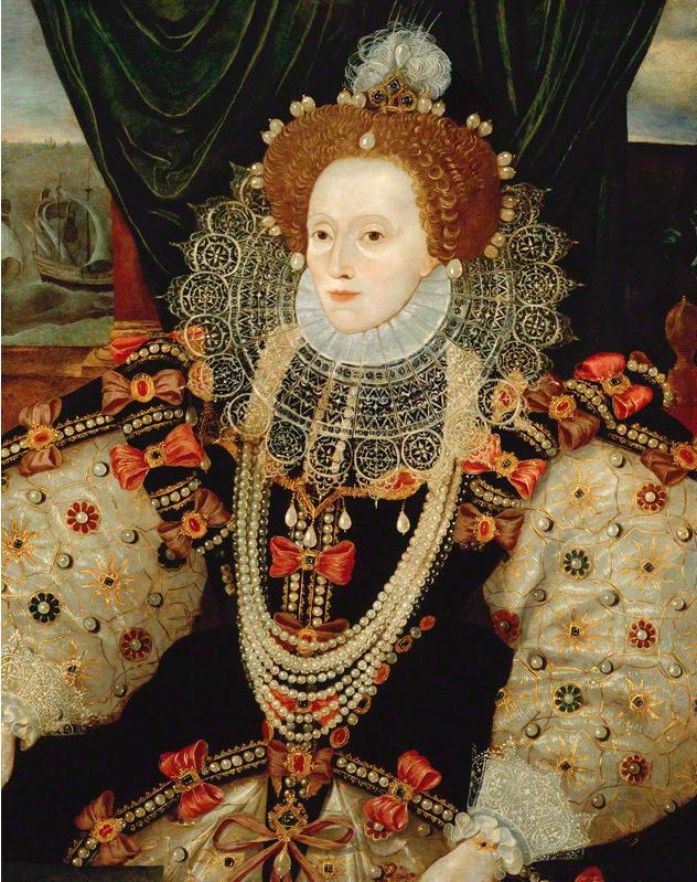 Unknown English Artist Ca 1588 Queen Elizabeth I Oil On Panel C National Portrait Gallery London Rainha Da Inglaterra Ana Bolena Dinastia Tudor