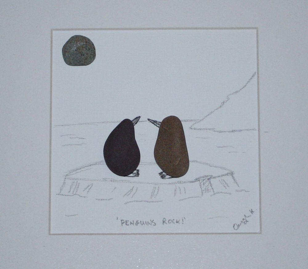 Mates For Life #penguin #pebbleart #weddingift #gift (With