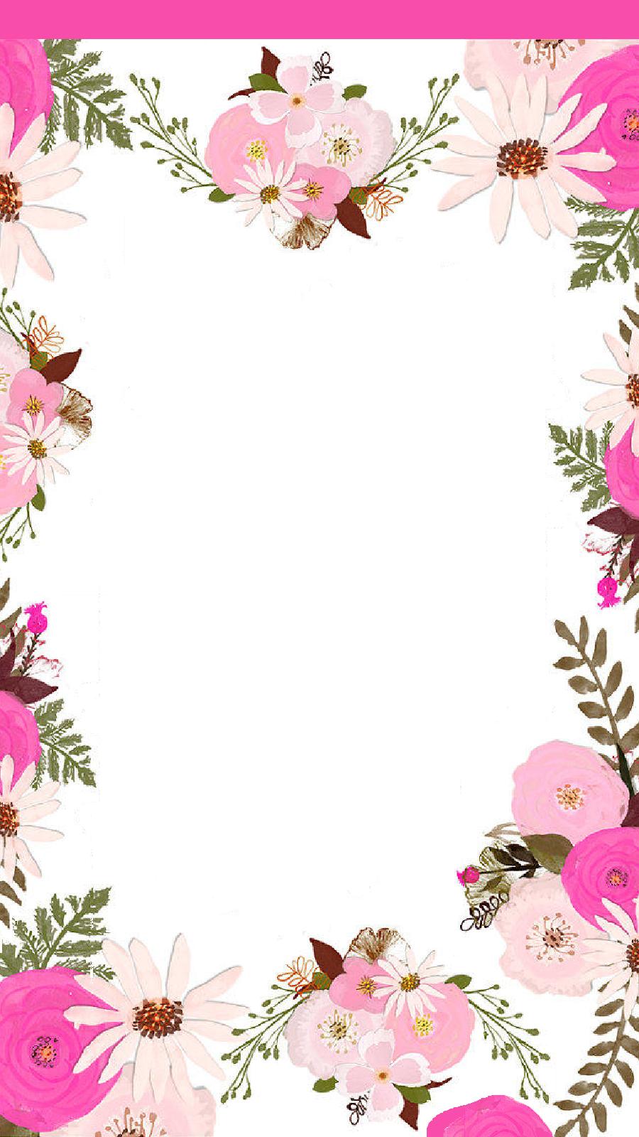 Lovenote 5 Tjn Floral Border Design Flowery Wallpaper