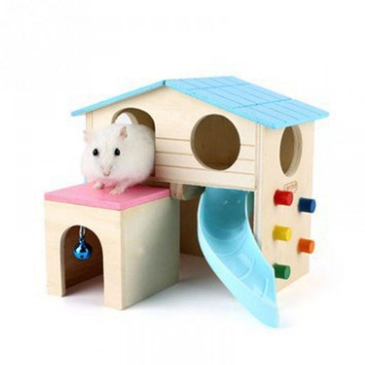 Multifunctional Luxury Pet Supplies Villa Furniture Building Hamster Wooden Hams…