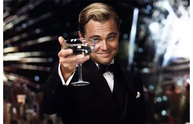 what to wear to the great gatsby | Leonardo DiCaprio as Jay Gatsby in The Great Gatsby.
