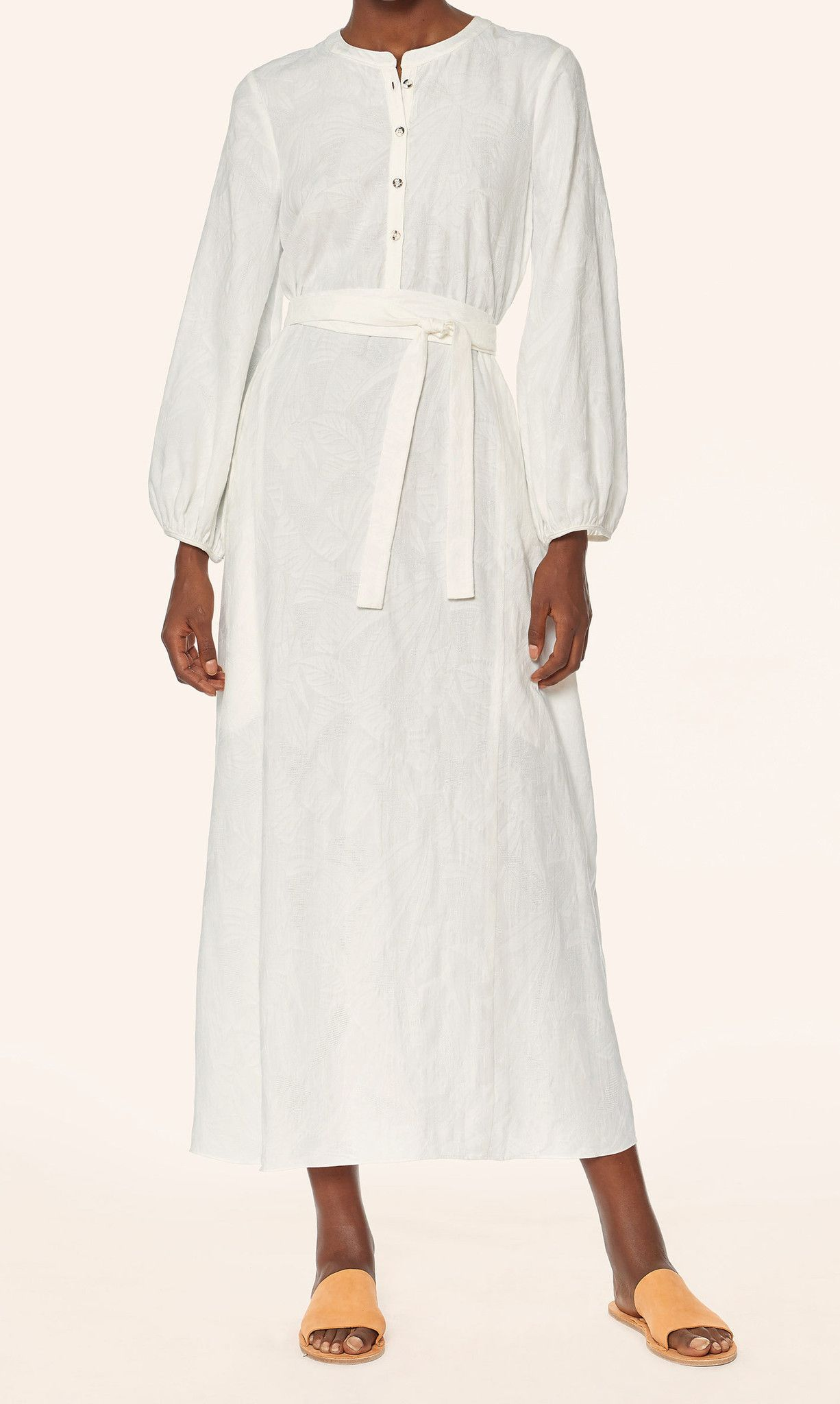 Mara Hoffman Maxi Peasant Dress in White