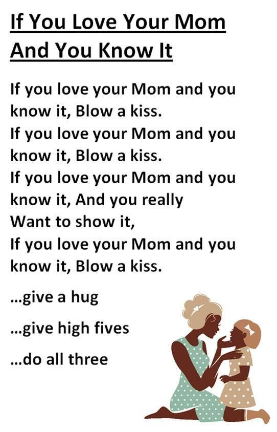 Itty Bitty Mothers Day Rhyme If You Love Your Mom and You Know It  Preschool Storytime