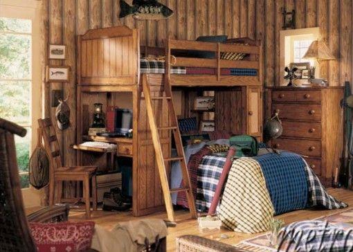 Habitación para dos Personas. La cama y los muebles son de Madera ...