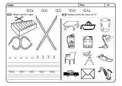 Dibujos De Lectoescritura Letra X Para Colorear Lectoescritura Aprender A Escribir Fichas