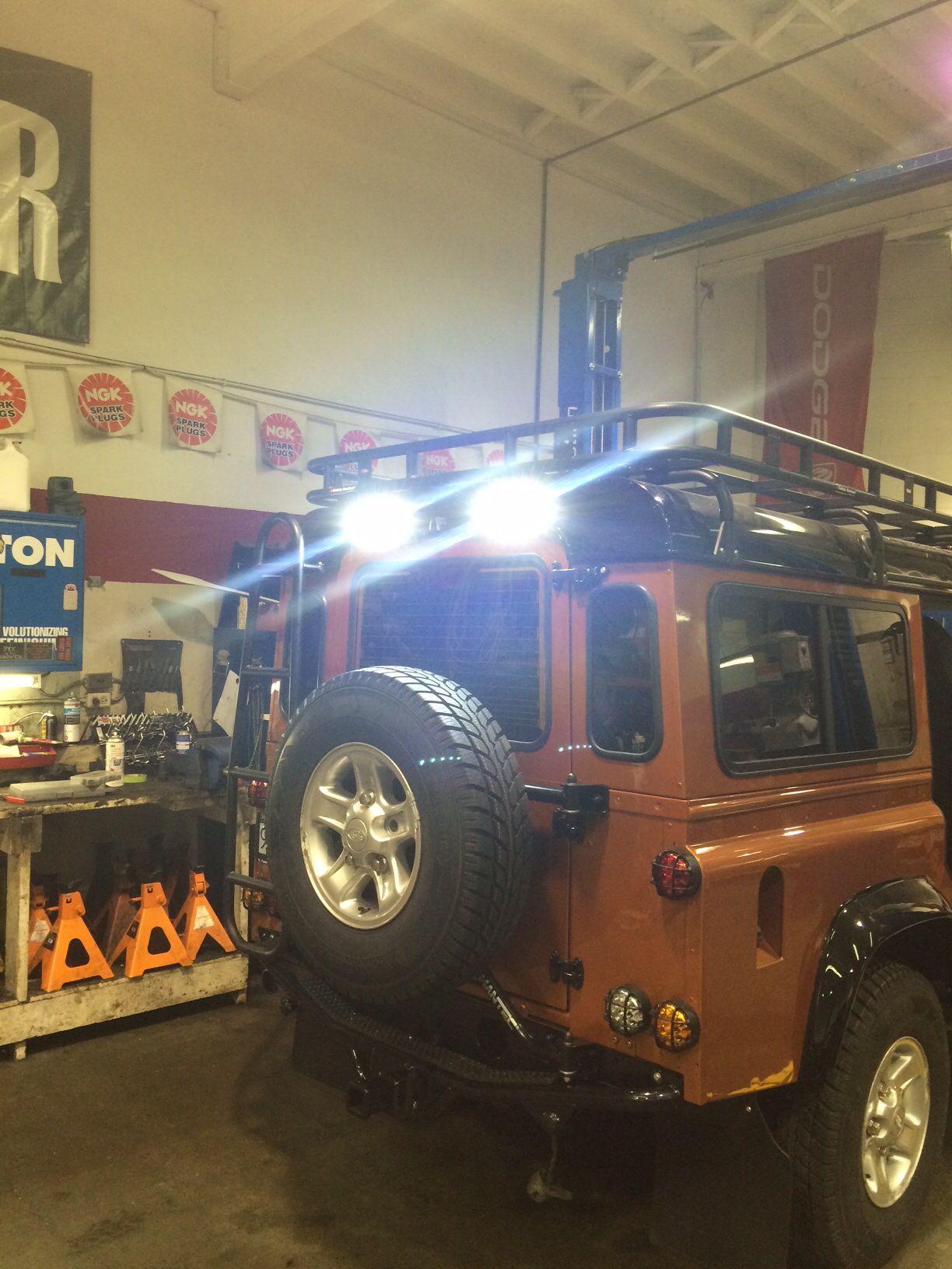 Rear Led Work Lights Land Rover Defender Land Rover Defender 110 Land Rover