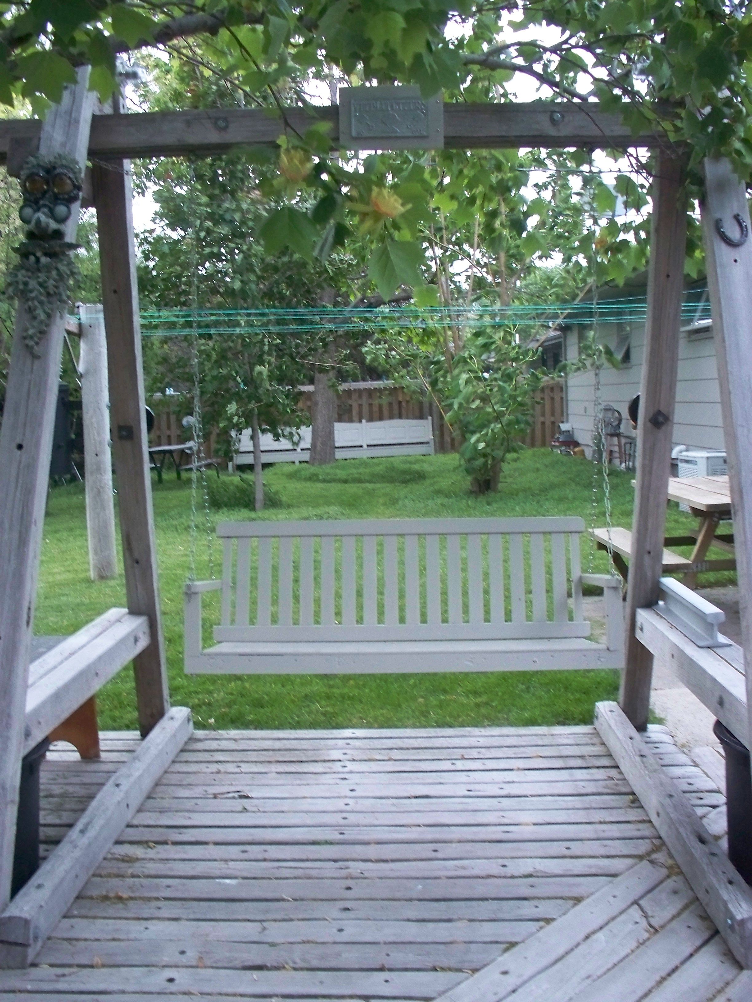 The Old Porch Swing Stands Alone Porch Swing Little Cottage Porch