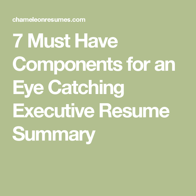7 Must Have Components For An Eye Catching Executive