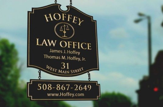 Hoffey Law Office Sign   Danthonia Designs   LAWYER WOOD SIGN in