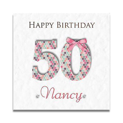Handmade personalised ladies special friend 30th 40th 50th 60th birthday greeting cards for adults ebay bookmarktalkfo Choice Image