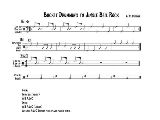 Jingle Bell Rock Bucket Drumming Routine Elementary Music