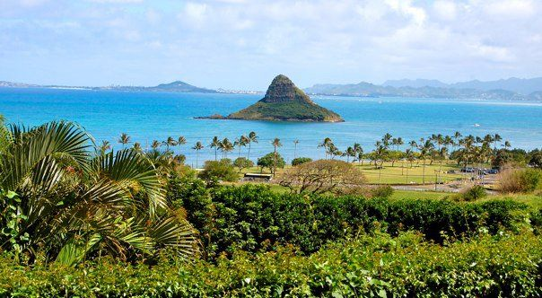 Chinaman's Hat above Kualoa Ranch, Oahu