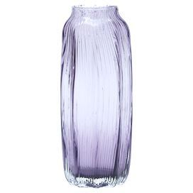 "Add an artful touch to your entryway console table or living room mantel with this mouth-blown glass vase, showcasing an amethyst tint for eye-catching appeal.  Product: VaseConstruction Material: GlassColor: AmethystFeatures:Mouth-blownDimensions: 12"" H x 4"" DiameterCleaning and Care: Hand wash only. Do not microwave."