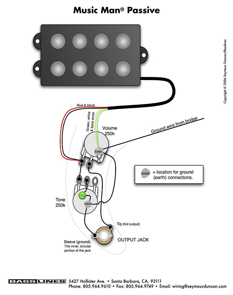 Double Humbucker Wiring Diagram Genie Garage Door Sensor Bass Musicman Pinterest Guitar And