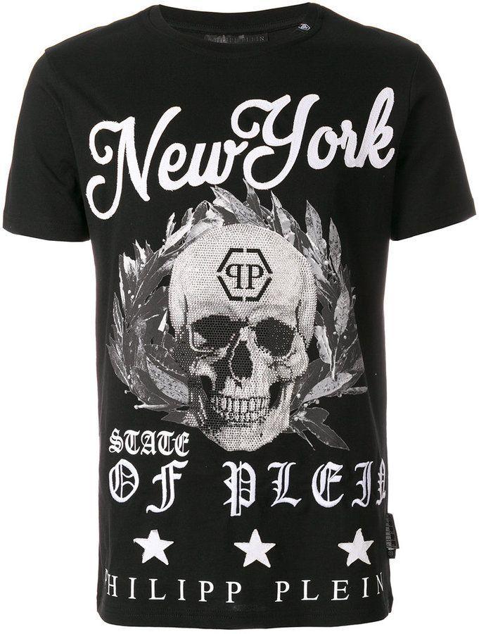 58bab63b1 Philipp Plein New York skull T-shirt   Products