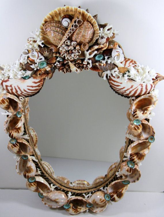 Fabulous shell mirror | Shells, Gifts from the Sea | Pinterest