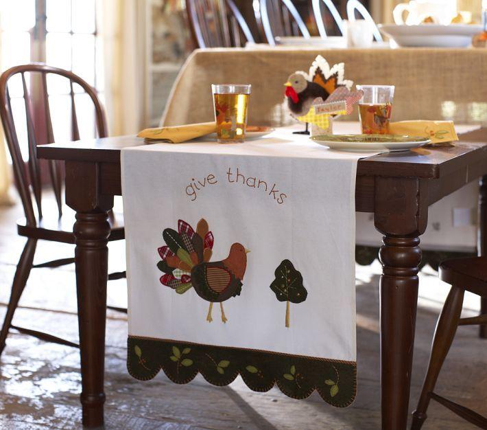 Pottery barn thanksgiving table runner fall for Pottery barn thanksgiving