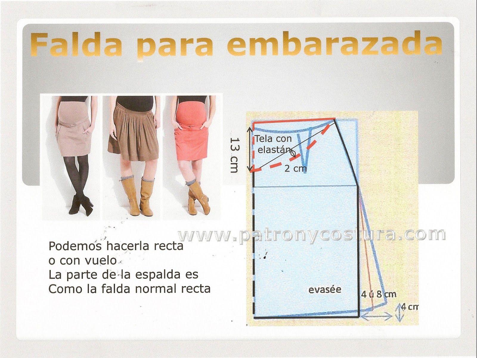 Patrón y costura : falda de embarazada. Tema 128 diy | Patternmaking ...