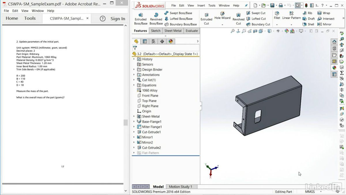 Solidworks How To Work With Dimensions Equations To Update Parts Solidworks Equations Dns