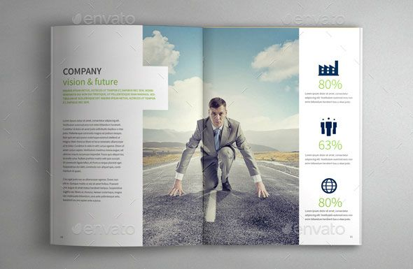 Best Corporate Indesign Annual Report Templates  Annual