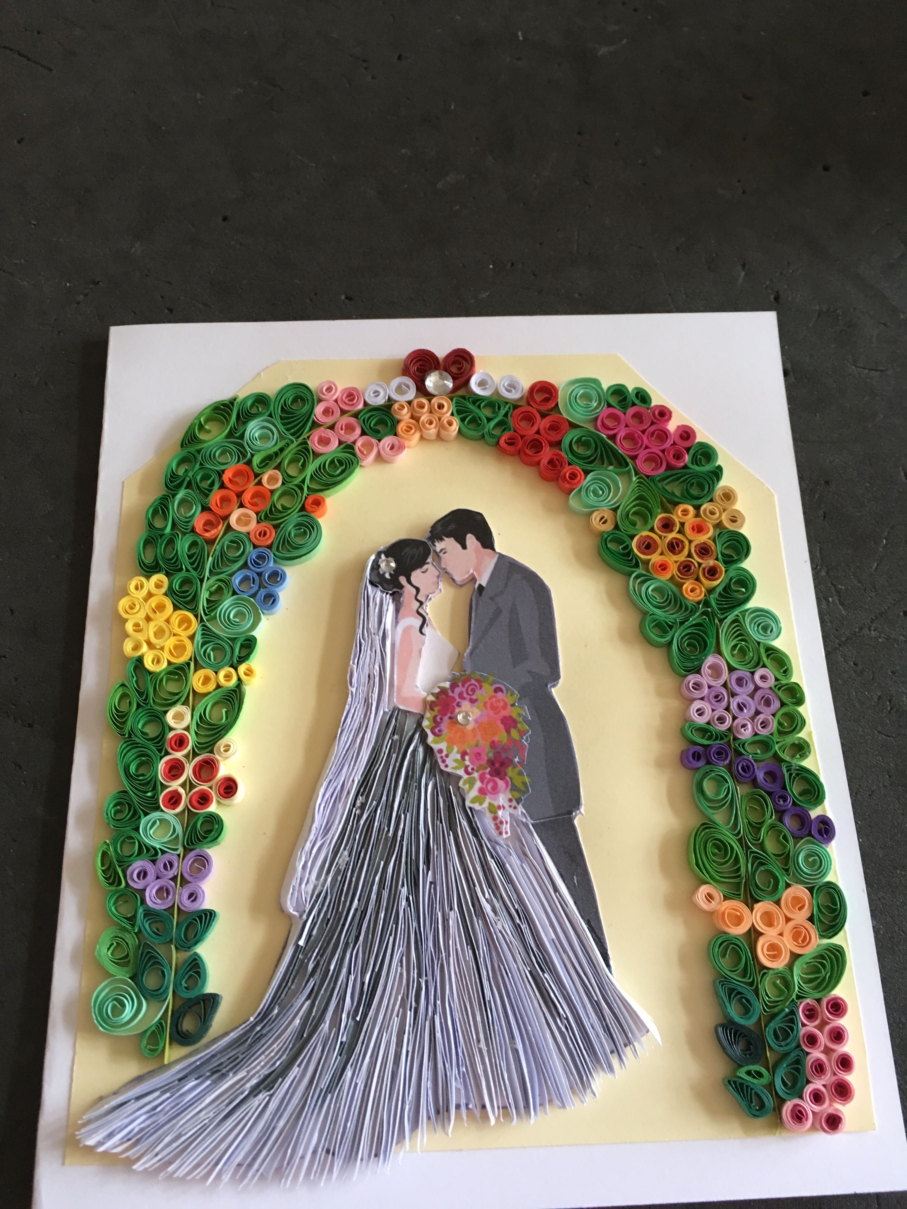 Quilling wedding decorations  My second wedding card  quilling  Pinterest  Wedding card