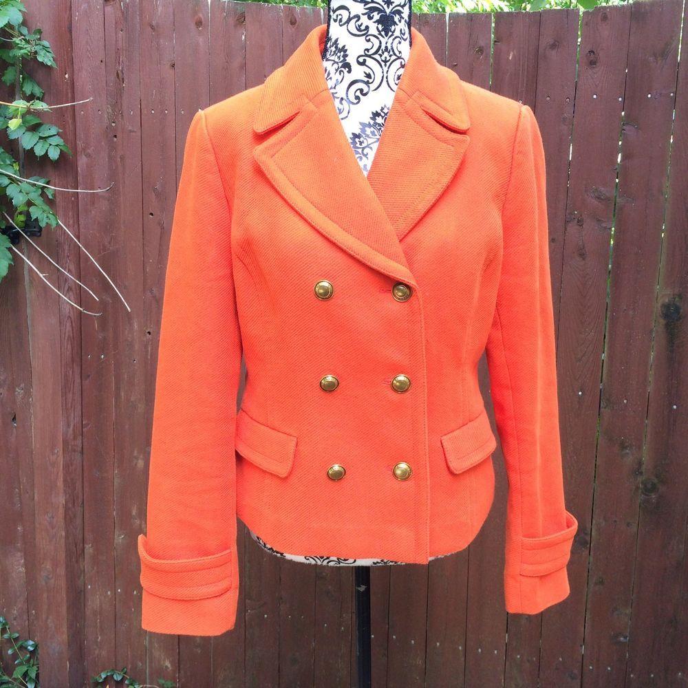 Banana Republic Womens M Orange Lined Cotton Jacket eBay