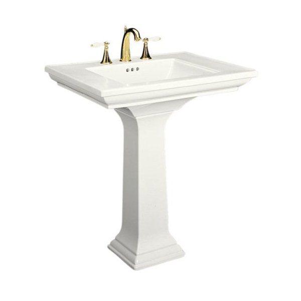 Kohler Memoirs 30 In White Pedestal Sink Small Pedestal Sink
