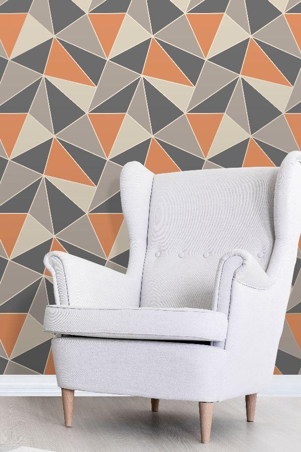 Best Apex Geo By Albany Burnt Orange Wallpaper Fd42002 In 400 x 300