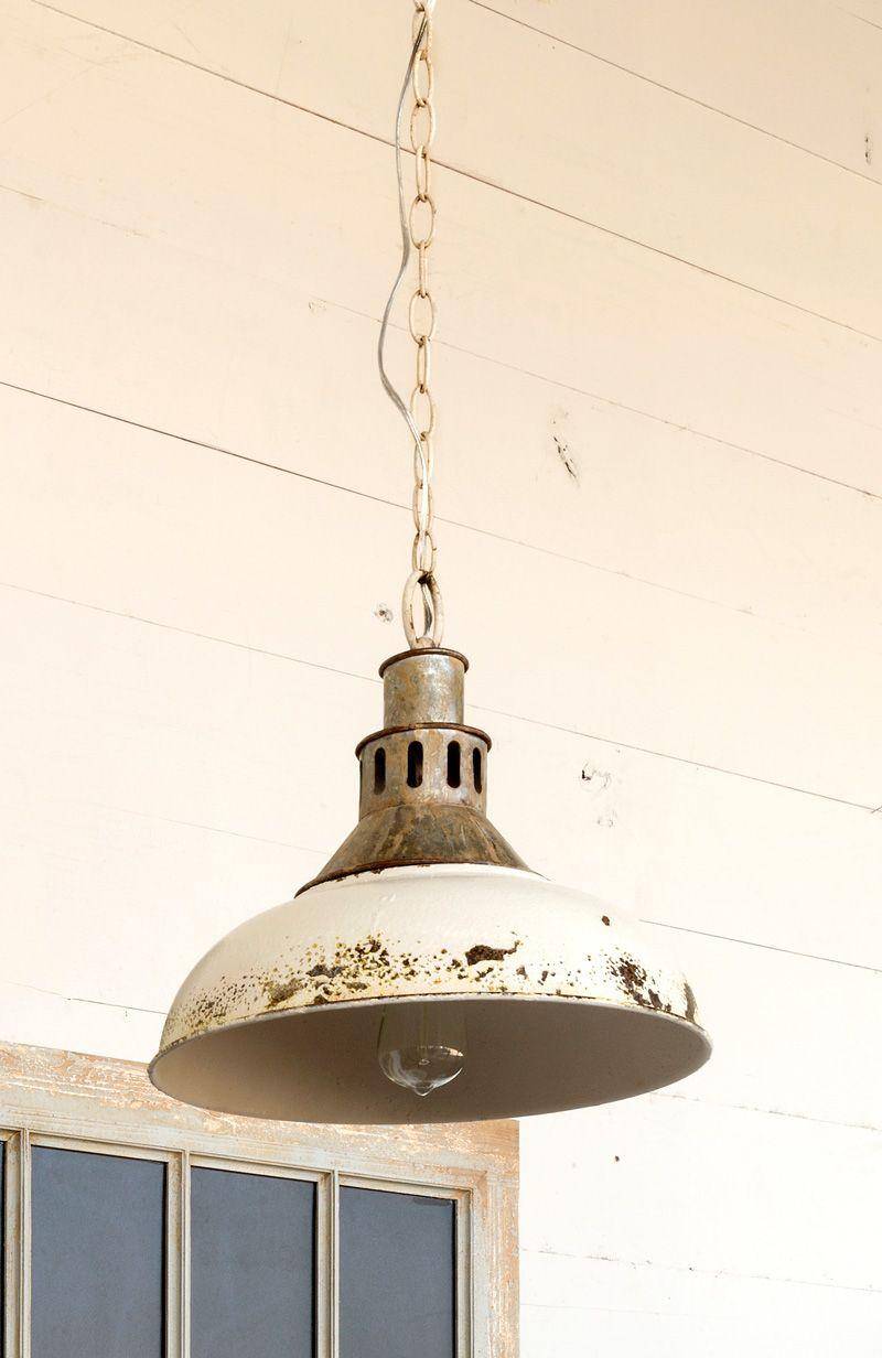 Antique White Finish Factory Pendant Light Pendant Lamp