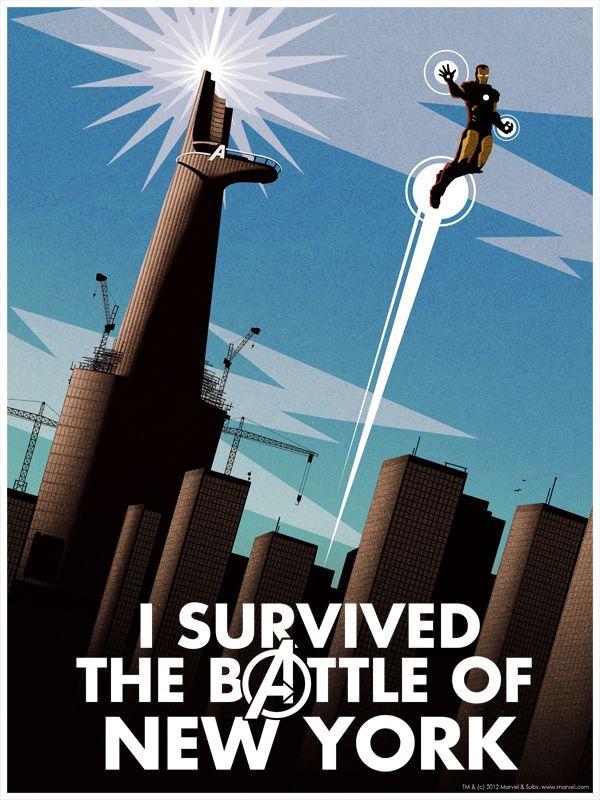 Battle of New York Poster by Matthew Ferguson | Captain America ...