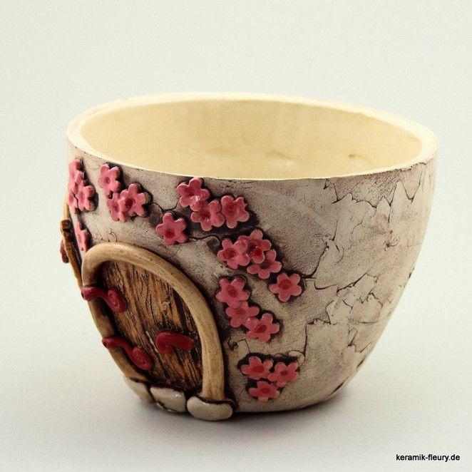 Keramik Kräuterpflanzschale Blumentopf