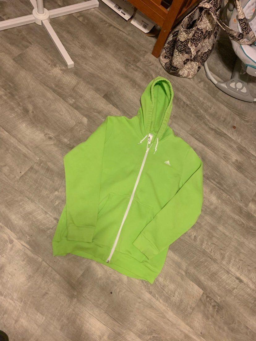 adidas hoodie lime green